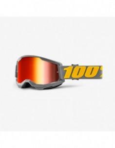 GOGLE 100% PROCENT STRATA 2 GREY RED GOLD