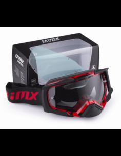 GOGLE IMX DUST GRAPHIC RED/BLACK MATT - SZYBA DARK SMOKE + CLEAR (2 SZYBY W ZESTAWIE)