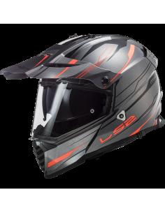 LS2 MX436 KNIGHT FLUO KASK MOTOCYKLOWY