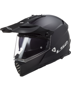 LS2 MX436 SOLID BLACK KASK MOTOCYKLOWY