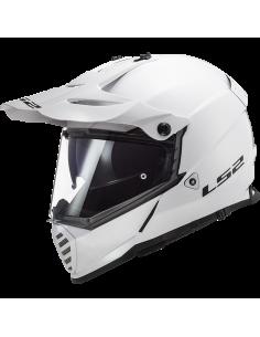 LS2 MX436 SOLID WHITE KASK MOTOCYKLOWY